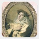 St. Catherine de Siena, c.1746 Pegatina Cuadrada