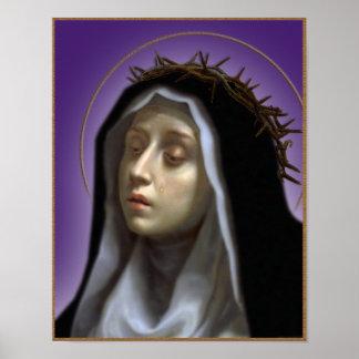 St. Catherine de Siena Póster