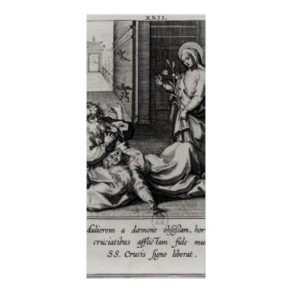 St. Catherine Exorcising a Demon from a Woman Poster