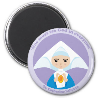 St. Catherine Laboure 2 Inch Round Magnet