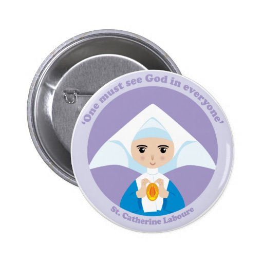 St. Catherine Laboure Button