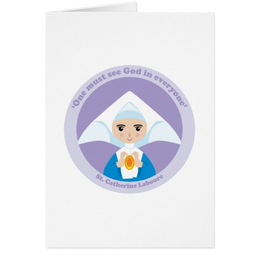 St. Catherine Laboure Greeting Card