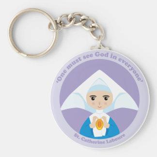 St. Catherine Laboure Llavero Redondo Tipo Pin
