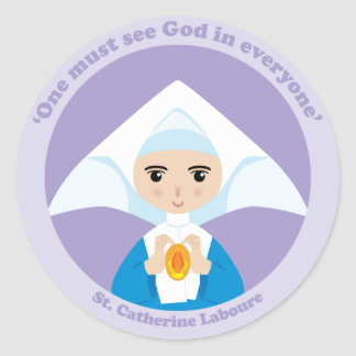 St. Catherine Laboure Round Stickers