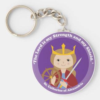 St. Catherine of Alexandria Basic Round Button Keychain