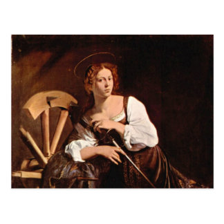 St. Catherine of Alexandria by Caravaggio Postcard