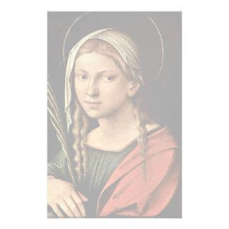 St. Catherine Of Alexandria By Correggio Stationery