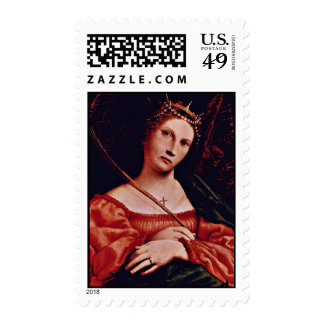St. Catherine Of Alexandria By Lotto Lorenzo (Best Postage Stamps