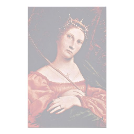 St. Catherine Of Alexandria By Lotto Lorenzo (Best Stationery Paper