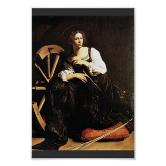 St. Catherine Of Alexandria By Michelangelo Merisi Poster