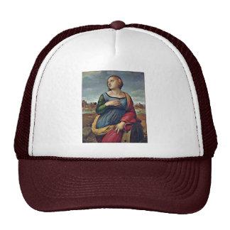 St. Catherine Of Alexandria By Raffael Trucker Hat