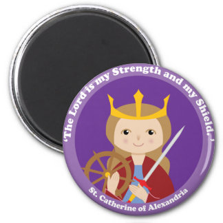 St. Catherine of Alexandria 2 Inch Round Magnet