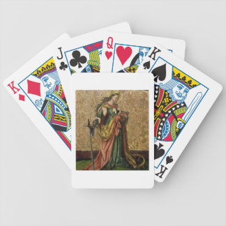 St. Catherine of Alexandria (oil on panel) 2 Bicycle Playing Cards
