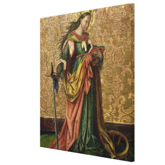 St. Catherine of Alexandria (oil on panel) 2 Gallery Wrapped Canvas