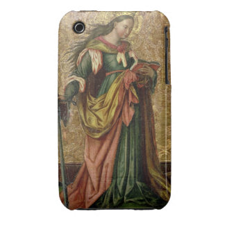 St. Catherine of Alexandria (oil on panel) 2 iPhone 3 Cover