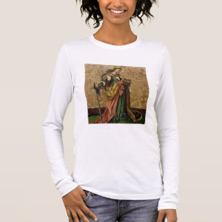 St. Catherine of Alexandria (oil on panel) 2 Long Sleeve T-Shirt