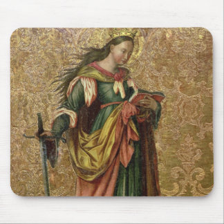 St. Catherine of Alexandria (oil on panel) 2 Mouse Pad