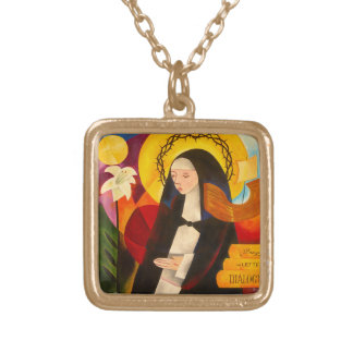 St. Catherine of Siena 2007 Gold Plated Necklace