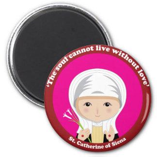 St. Catherine of Siena 2 Inch Round Magnet
