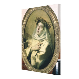 St. Catherine of Siena , c.1746 Canvas Print