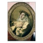 St. Catherine of Siena , c.1746 Greeting Card