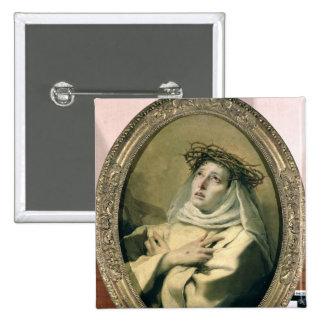 St. Catherine of Siena , c.1746 Pinback Button