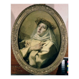 St. Catherine of Siena , c.1746 Poster