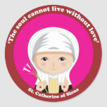 St. Catherine of Siena Classic Round Sticker