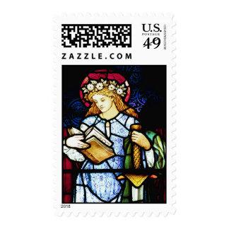 St Catherine, Patron Saint of Teachers Stamp