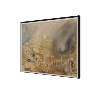 St. Catherine's Hill, Guildford, Surrey, 1830 (w/c Canvas Print