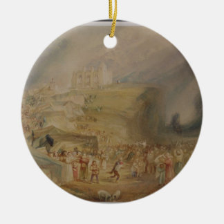 St. Catherine's Hill, Guildford, Surrey, 1830 (w/c Ceramic Ornament