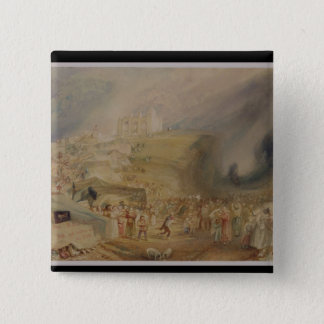St. Catherine's Hill, Guildford, Surrey, 1830 (w/c Pinback Button