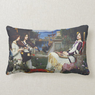St. Cecilia and the Angels with Violins Throw Pillow