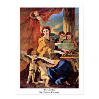 St. Cecilia By Nicolas Poussin Postcard