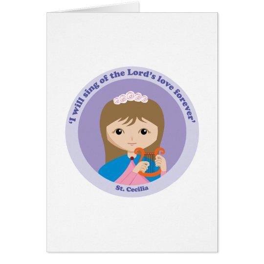 St. Cecilia Card