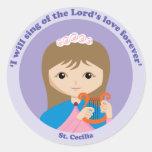 St. Cecilia Classic Round Sticker