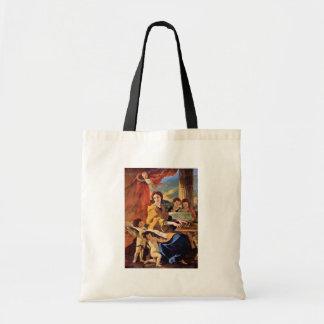 St Cecilia de Poussin Nicolás (la mejor calidad) Bolsa Tela Barata