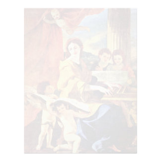 St Cecilia de Poussin Nicolás (la mejor calidad) Plantillas De Membrete