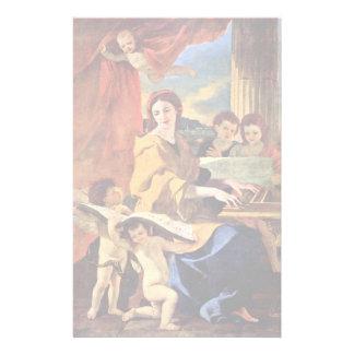St Cecilia de Poussin Nicolás (la mejor calidad) Personalized Stationery