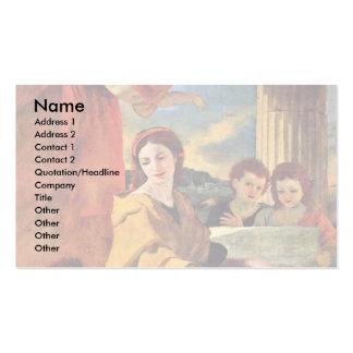 St Cecilia de Poussin Nicolás (la mejor calidad) Tarjetas De Visita