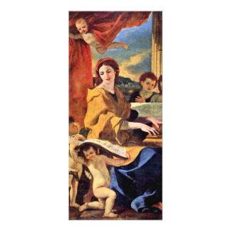 St Cecilia de Poussin Nicolás (la mejor calidad) Tarjeta Publicitaria A Todo Color