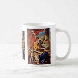 St Cecilia de Poussin Nicolás (la mejor calidad) Taza Básica Blanca