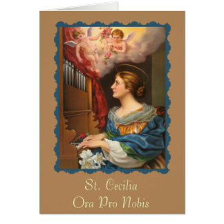 St. Cecilia Greeting/Note/Prayer/Holy Card -