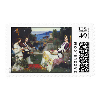 St Cecilia -  John William Waterhouse Stamp