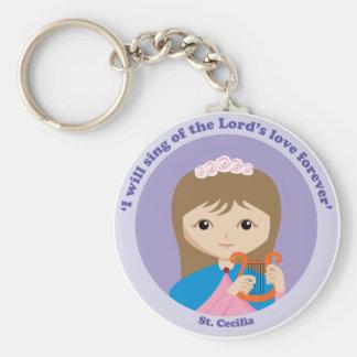 St Cecilia Llavero Redondo Tipo Pin