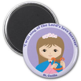St. Cecilia 2 Inch Round Magnet