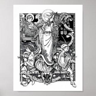 """St. Cecilia of Rome 8"""" x 10"""" Print"""