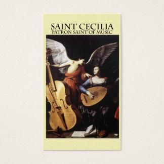 St. Cecilia, Patron Saint of Music Business Card
