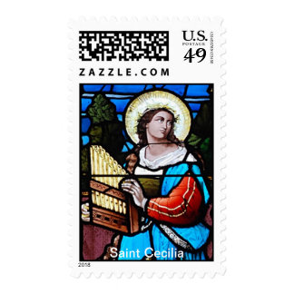 St Cecilia, Patron Saint of Musicians Postage Stamps