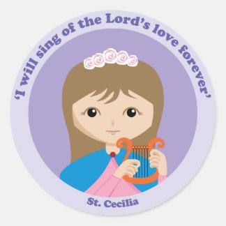 St Cecilia Pegatina Redonda